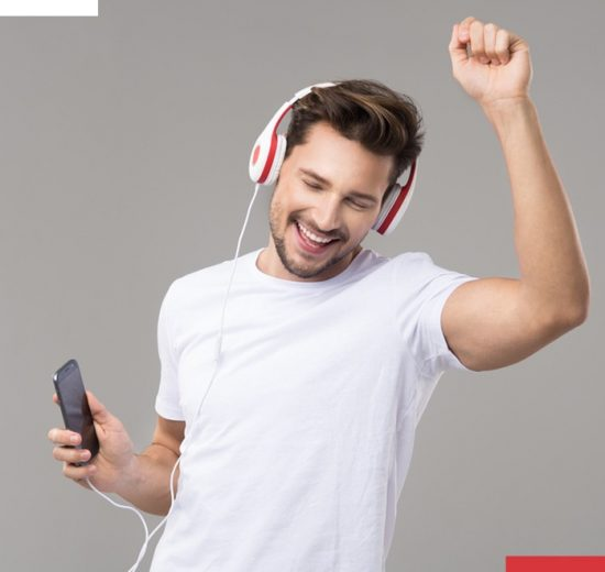 Audio over screen
